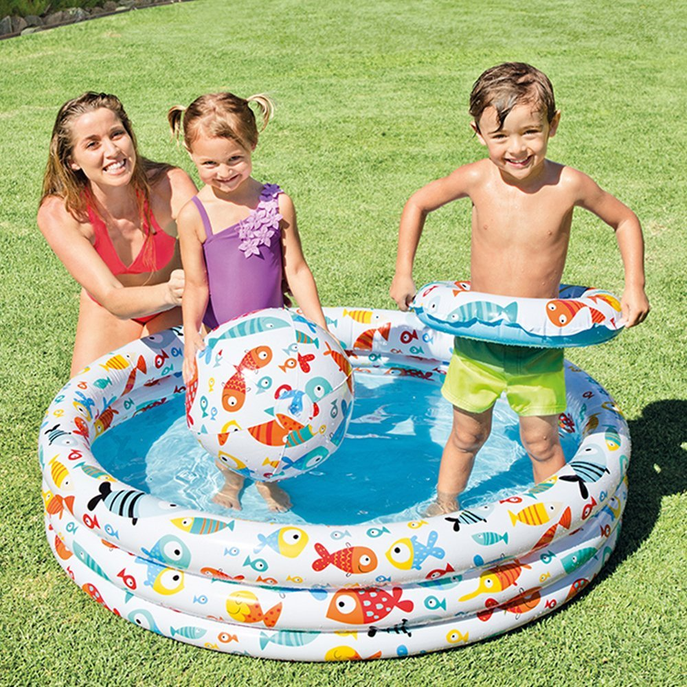 Intex 57422 Kolam Renang Pelangi Anak Size 147 X 33 Cm Sunset Glow Besar 147x33 Uk Daftar Update Harga Source Kiddie Float 59469 Fishbowl Pool Set 3 Ring