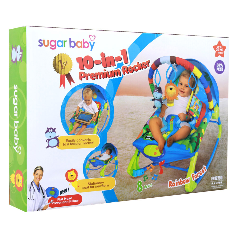 Index Of Upload Sugarbaby Sugar Baby Infant Seat Blue Rocker Premium 10 In 1 Rainbow Forest